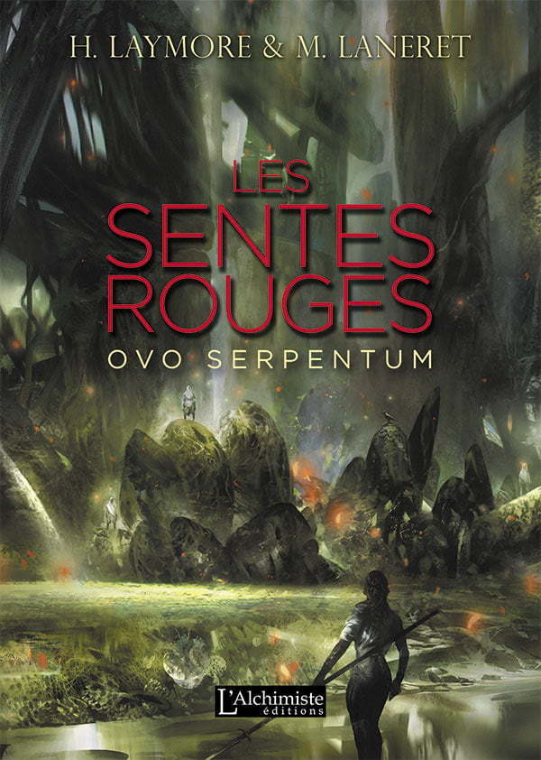 Les Sentes rouges - dark fantasy - Éditions L'Alchimiste - Illustration de SImon Goinard